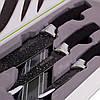 Набор кухонных ножей Kamille на магнитной полоске 4 предмета (3 ножа+держатель) KM-5148B, фото 3