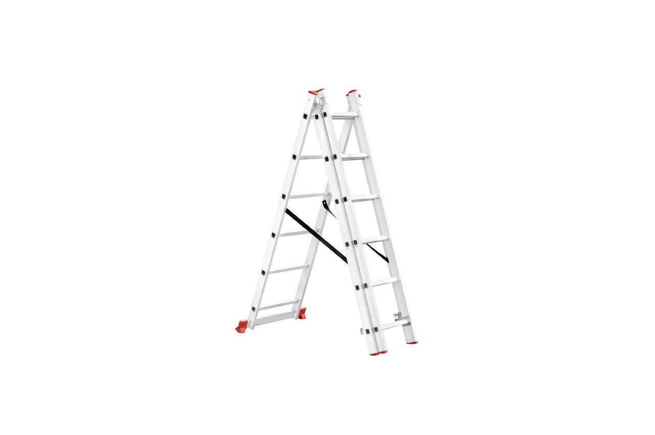 Лестница 3-х раскладная Intertool - 3407 мм х 3x6 ступеней
