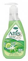 Жидкое мыло для рук Attis Natural Оливка и огурец 400мл