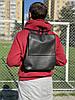 Мужской рюкзак небольшого размера из экокожи черный