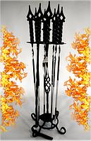 Подарочный набор кованных шампуров (черный цвет)