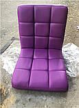 Кресло Augusto ЭК пурпурный 1010 Modern Office, на хромированной крестовине с колесами, с регулировкой высоты, фото 5