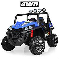 Детский электромобиль Джип «Bambi» M 3454(2)EBLR-4 (4WD полный привод) Синий