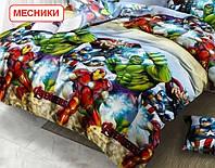 Двоспальний підодіяльник з бязі - Месники