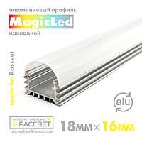 Алюмінієвий профіль MagicLed ML-08 Premium для світлодіодної стрічки накладної