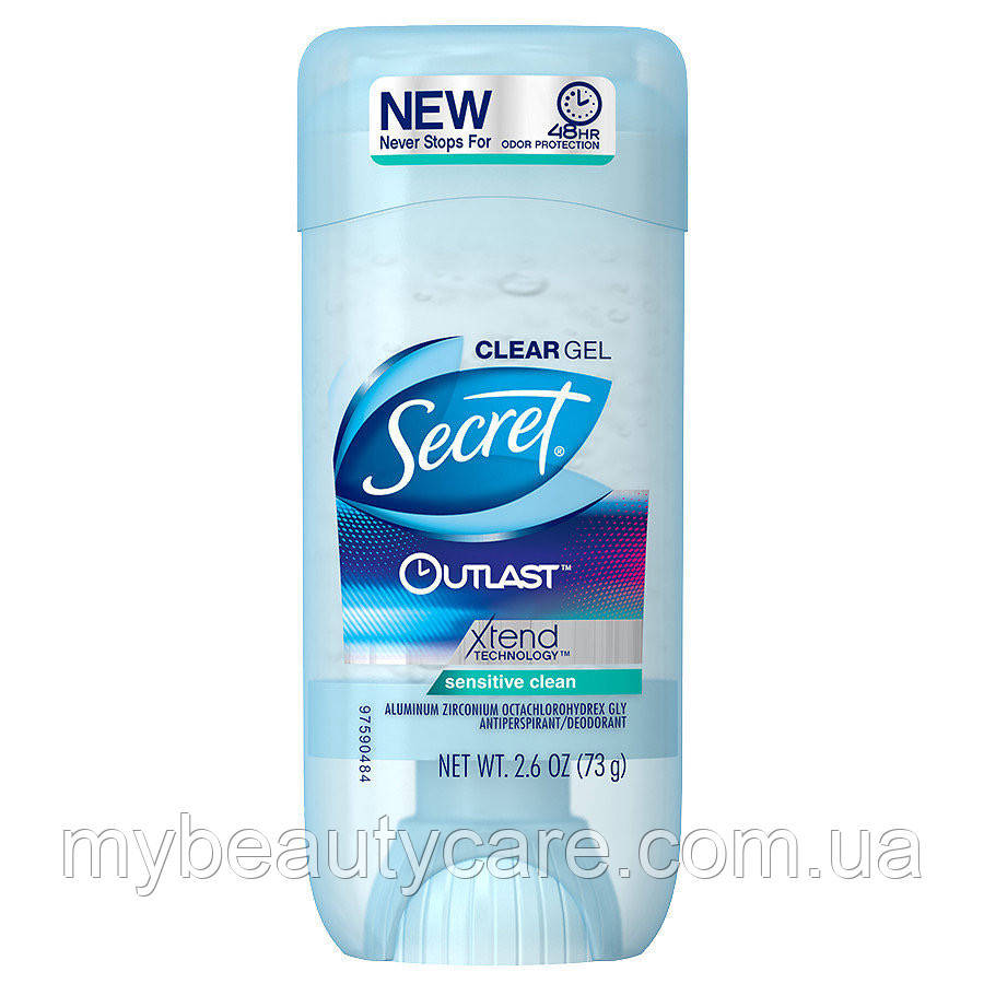 Гелевый дезодорант Secret Outlast Antiperspirant Deodorant Clean