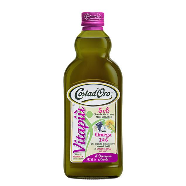 Олійна суміш Costa d'Oro Vitapiu 0,75л Vitapiu суміш 5 олій, 12шт/ящ 27252