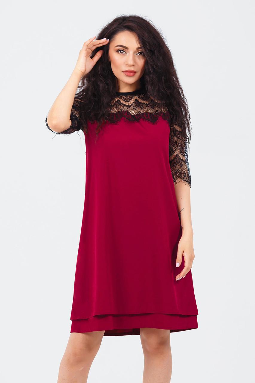 Романтическое платье Valery, марсала
