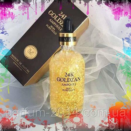 Антивозрастная сыворотка для лица Голдзен с частицами золота 24K Goldzan Ampoule 99.9% pure gold (лиц.), фото 2