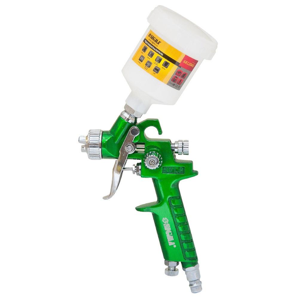 Краскопульт  Sigma HVLP-mini 0.8 мм с верхним баком 100 мл Green (6812041)