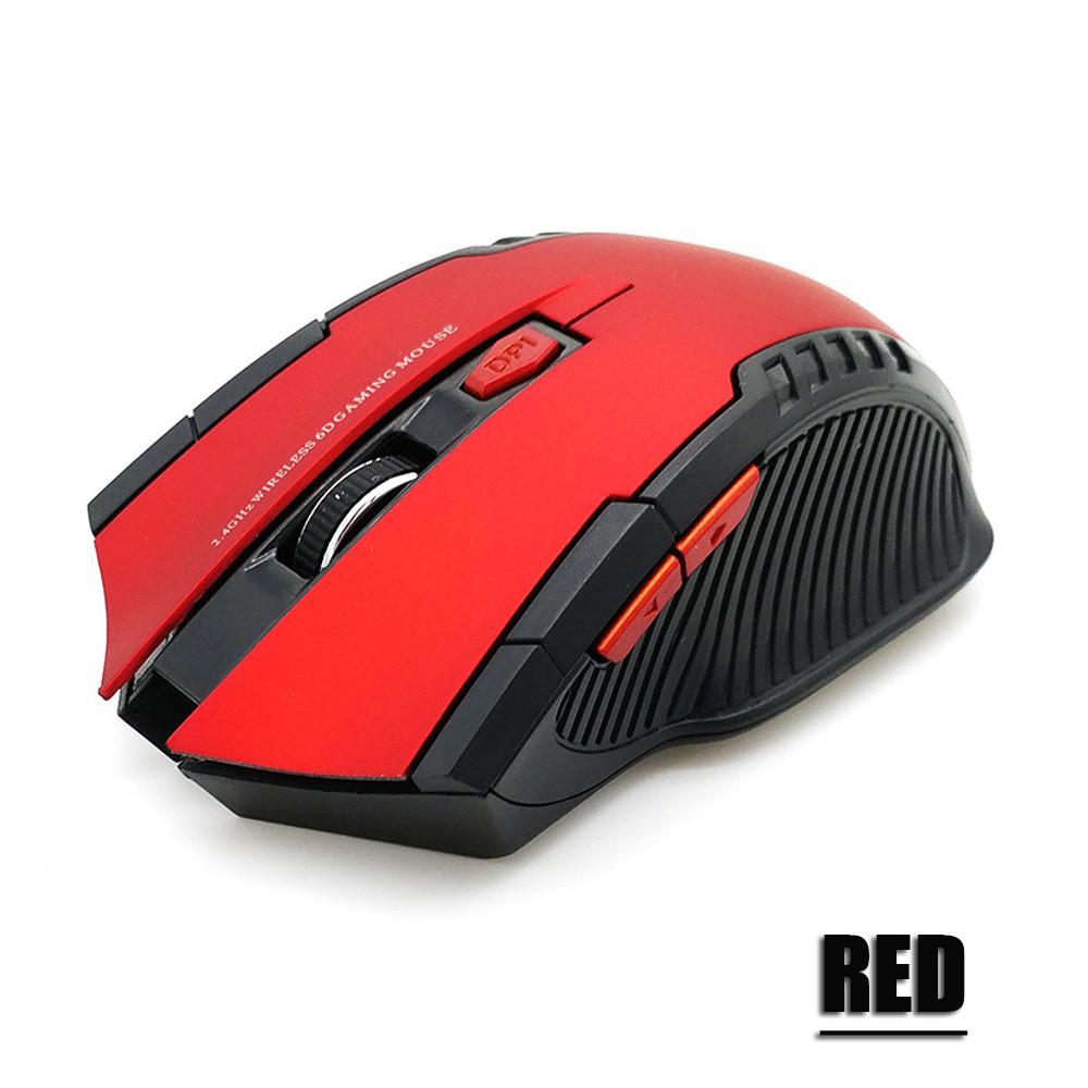 Беспроводная компьютерная мышь Красная