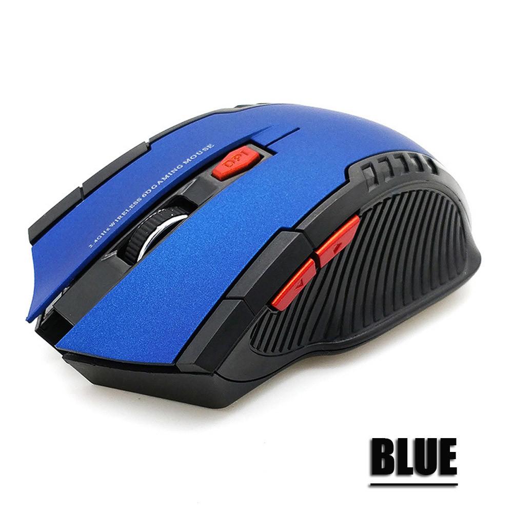 Беспроводная компьютерная мышь Синяя