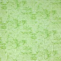 Самоклеюча декоративна 3D панель під цеглу салатовий мармур 700х770х7мм