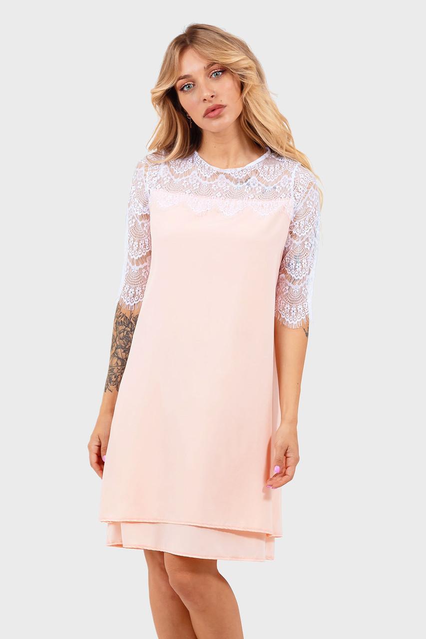 Романтическое платье Valery, персик