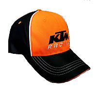 Бейсболка черно-оранжевая 100% хлопок KTM RACING, фото 1