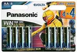Щелочные батарейки Panasonic Evolta LR6EGE/8BW АА/LR06 блистер 8 шт.