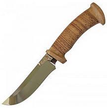 Ніж фіксований Аїр Росомаха (довжина: 265мм, лезо: 140мм, 40Х10С2М), береста, піхви шкіра