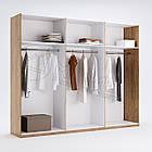 Шкаф 6дв Белла без зеркал глянец белый ТМ Миро Марк, фото 2