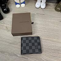 Брендовый мужской кошелек/ бумажник Louis Vuitton Florin Damier Graphite