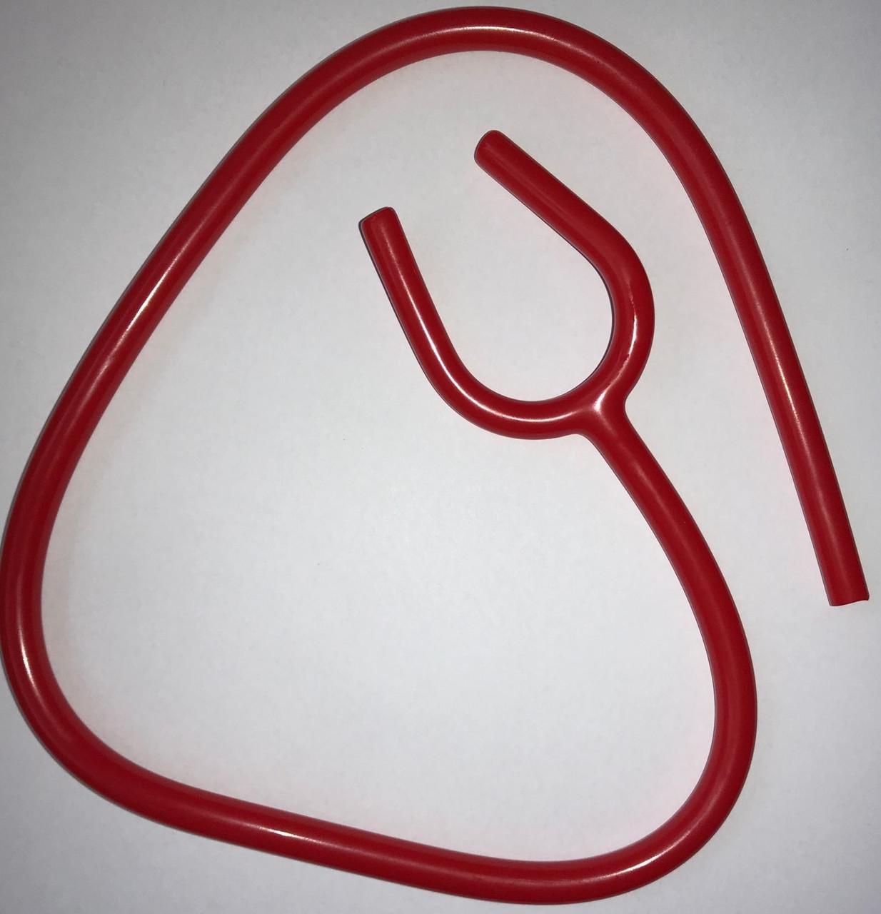 Y-трубка GIMA из PVC на стетоскоп и фонендоскоп, звукопроводящая, КРАСНАЯ, Италия
