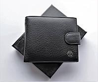 Брендовый мужской еожаный бумажник/ кошелек Philipp Plein с зажимом черный