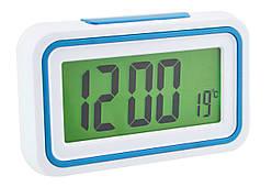 Будильник говорящие часы KENKO 9905 TR Белый/Голубой (1957)