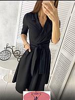 Женское платье с поясом  42-44 и 44-46 рр., фото 1