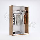 Шкаф 3дв Виола глянец белый-черный мат без зеркал ТМ Миро Марк, фото 2