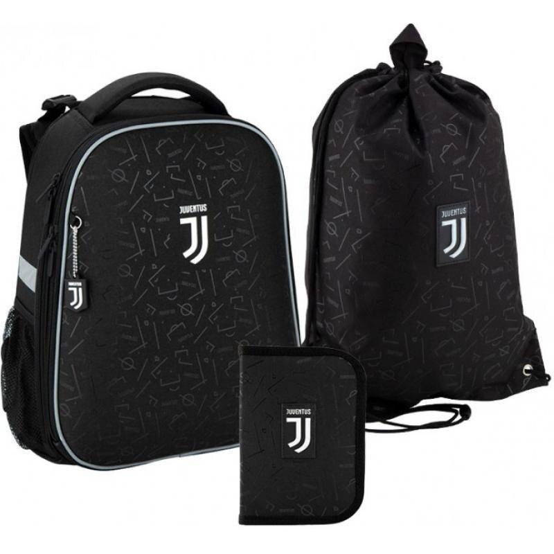 Рюкзак 531 набор школьный каркасный Kite FC Juventus JV20-531M пенал сумка