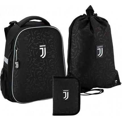 Рюкзак 531 набор школьный каркасный Kite FC Juventus JV20-531M пенал сумка, фото 2