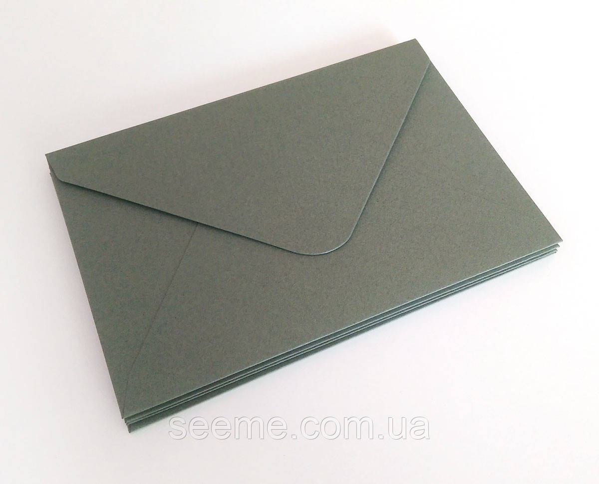 Конверт 184x140 мм, колір сірий