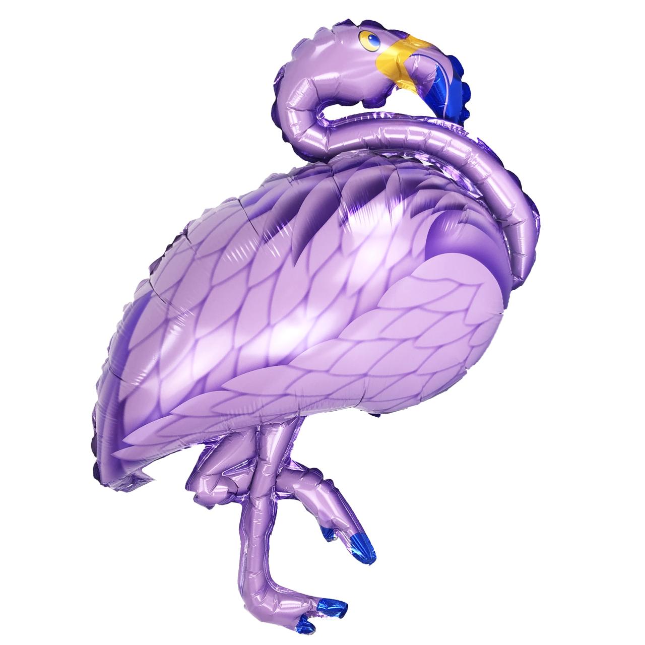 Фольгированный шар 40' Китай Фламинго фиолетовый в упаковке, 100 см