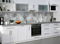 Виниловая наклейка кухонный фартук-скинали, самоклейка для кухни IdeaX Пышные перья 60х250 см