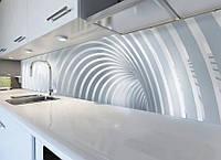 Виниловая наклейка кухонный фартук-скинали 60х300 см IdeaX Дуги (самоклейка на кухню)