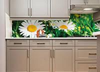 Виниловая наклейка кухонный фартук-скинали 60х300 см IdeaX Солнечные ромашки (самоклейка на кухню)