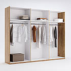 Шкаф Луиза 6 дв без зеркал Белый глянец ТМ Миро-Марк, фото 2