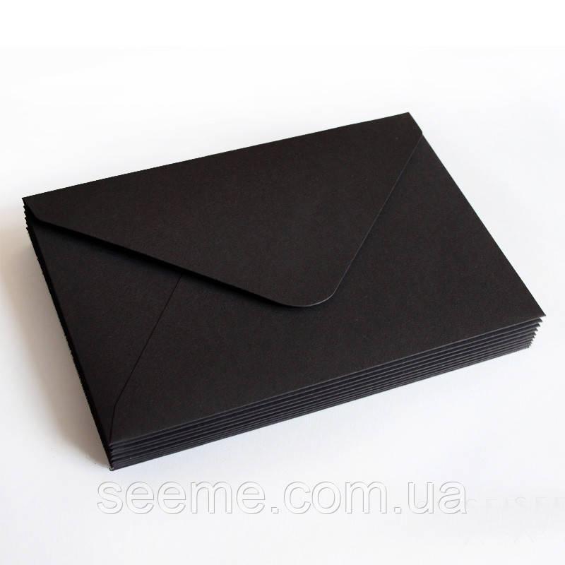 Конверт 184x140 мм, цвет черный
