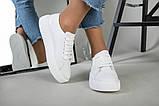 Кеды женские кожаные белые на белой подошве, фото 10