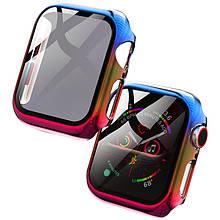 PC+Glass чехол Rainbow для Apple Watch 40mm