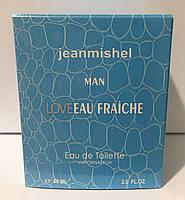 Тестер в подарочной упаковке jeanmishel Man loveEau Fraiche 60 мл, фото 1