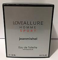 Тестер в подарочной упаковке jeanmishel loveAllure Homme Sport 60 мл, фото 1