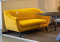 Прямой диван Signal Molly Velvet 2 156х83 см Горчичный (MOLLY2VCU68)