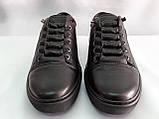Стильные кожаные демисезонные кроссовки,кеды Detta, фото 3