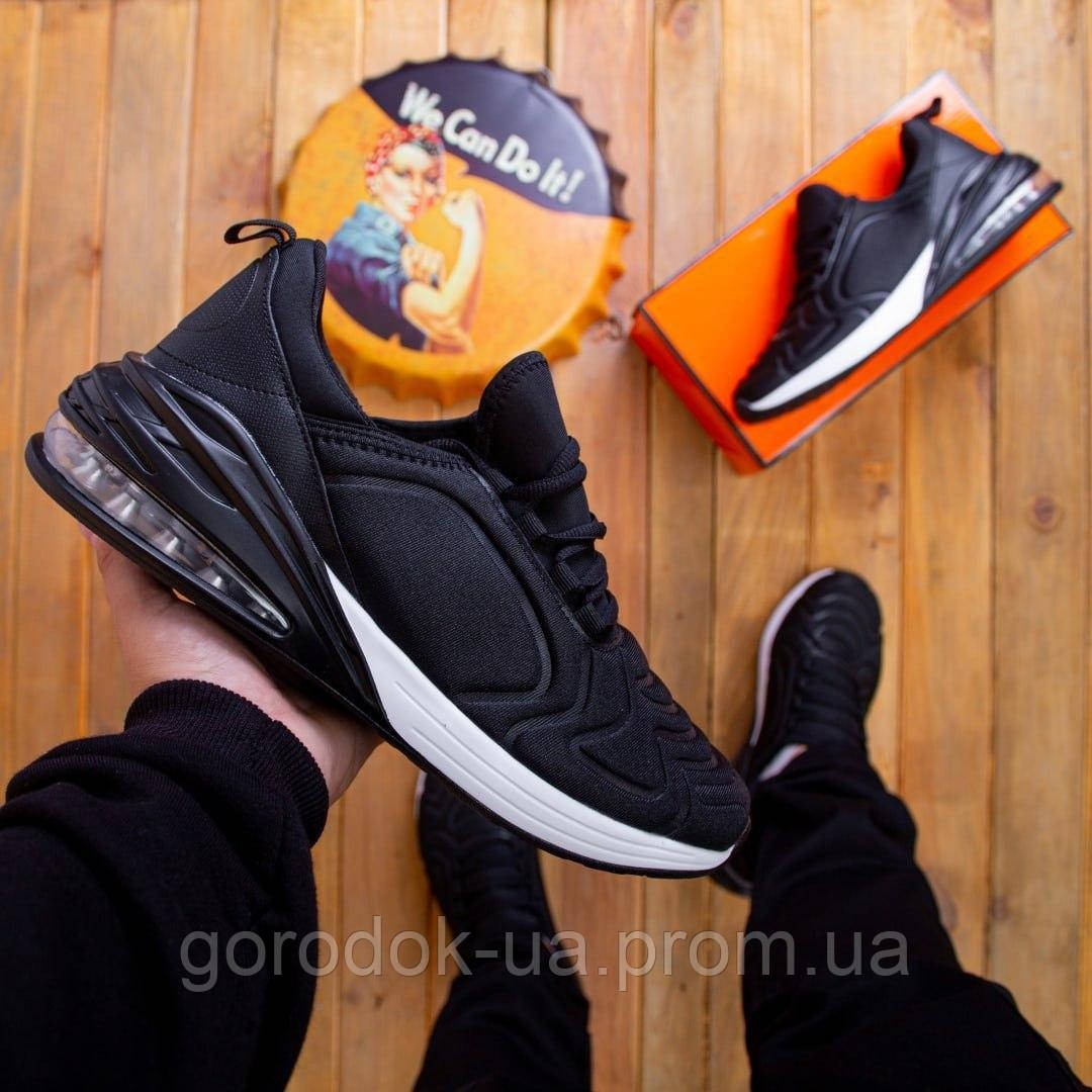 Cтильные мужские кроссовки черные с белым (White-black)