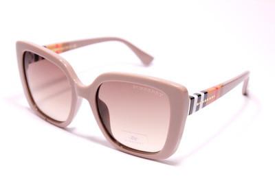 Солнцезащитные роскошные женские очки из пластика цвета кофе с молоком