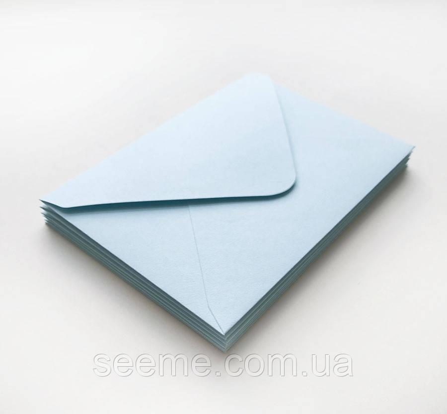 Конверт 184x140 мм, колір світло-блакитний