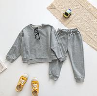Костюм детский повседневный, свитшот и штаны. Серый трикотажный спортивный костюм осень весна на девочку.