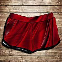Шорты 3D принт женские-red queen