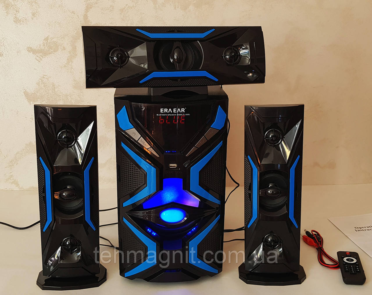 Акустическая система 3.1 Era Ear E-1503L (USB/FM-радио/Bluetooth) 60W