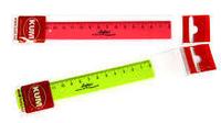 Лінійка пластикова 15 см флуоресцентна для лівші Flexi Lefty KUM